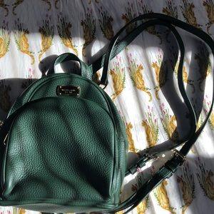 Dark Green Michael Kors Abbey Mini Backpack